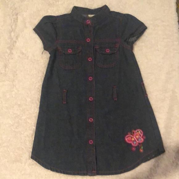 Blue Jean dress butterfly decor, missing belt